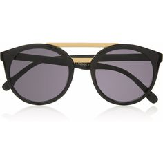 Le Specs Black Lagoon round-frame acetate sunglasses (415 VEF) ❤ liked on Polyvore featuring accessories, eyewear, sunglasses, glasses, oculos, black, round frame, black round sunglasses, black eyewear and round frame sunglasses