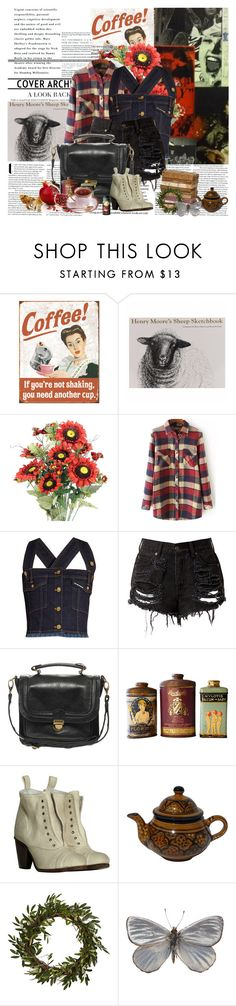 """""""Coffee!"""" by noextrate ❤ liked on Polyvore featuring House of Holland, Pieces, AllSaints, Le Souk and Nearly Natural"""