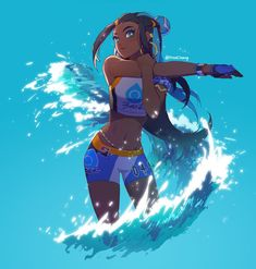 Nessa is so beautiful she might be my favorite Pokemon gym leader design ; Nessa is so beautiful she might be my favorite Pokemon gym leader design ; Lucario Pokemon, Pokemon Waifu, Mudkip, Pokemon Fan Art, New Pokemon Game, List Of Characters, Pokemon People, Gym Leaders, Black Girl Art