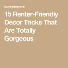 15 Renter-Friendly Decor Tricks That Are Totally Gorgeous
