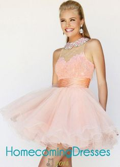 Crystal Collar High Neck Pink Backless Ruffled Cocktail Dress 2015