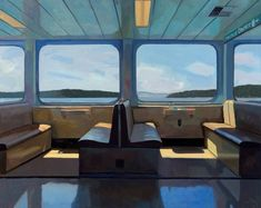 Dmitri Cavander, Ferry, August 2017, Oil on canvas