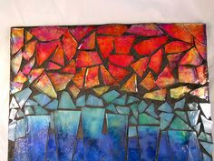 using alcohol ink on tile or glass to use in mosaics..