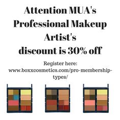 We love supporting our Makeup Artist's...pass it on! #mua #discount