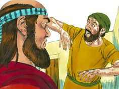 Elisha asked 'Where have you been, Gehazi?'Nowhere,' Gehazi, lied.'Was not my spirit with you when Naaman got down from his chariot to meet you?' Elisha asked. He knew about his dishonest servant's dealings and declared, 'Naaman's leprosy will cling to you and to your descendants forever.' Gehazi's skin became leprous - as white as snow. – Slide 16
