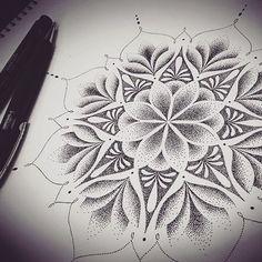 adelfa_tattooDotwork Mandala design