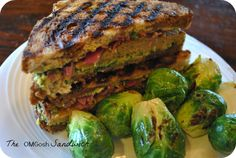 The OMGosh Vegan Grilled Sandwich, with Chickpea Seitan Patty and Spinach Avocado Dip from The Great Vegan Bean Book