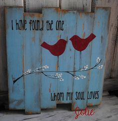 I have found the one wooden sign distressed rustic. $70.00, via Etsy.: