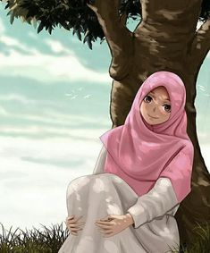No photo description available Baby Hijab, Girl Hijab, Girl Cartoon, Cartoon Art, Hijab Drawing, Islamic Cartoon, Hijab Cartoon, Islamic Girl, Muslim Girls