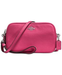 COACH Crossbody Clutch in Pebble Leather, mine is all silver