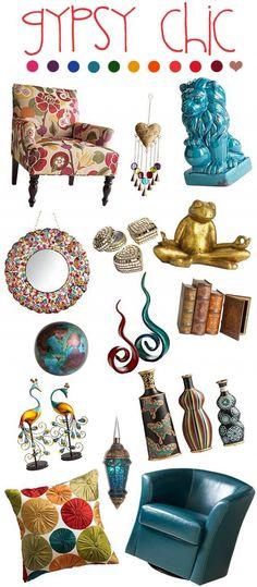Gypsy, ethnic, interior design