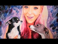 Speed Painting : Jenna Marbles (ft Marbles & Kermit)