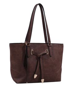 Tops Handbags Taupe Tie-Front Tote | zulily
