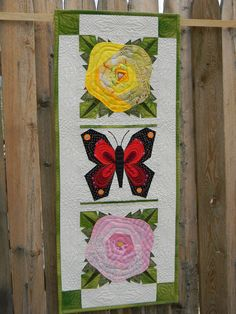 Crazy roses Butterfly Quilt
