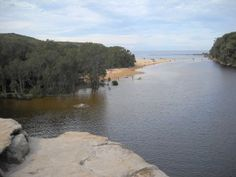 Royal National Park - Wattamolla Beach, the picnic area overlooks the lagoon and out to Wattomolla Beach. Parks In Sydney, Picnic Area, Rowing, Surfing, National Parks, Coast, Landscape, Beach, Water