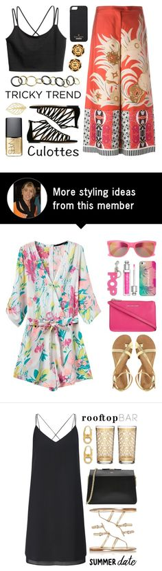 """Tricky Trend - Chic Culottes"" by lgb321 on Polyvore featuring Etro, Jimmy Choo, Kate Spade, NARS Cosmetics and Jona"