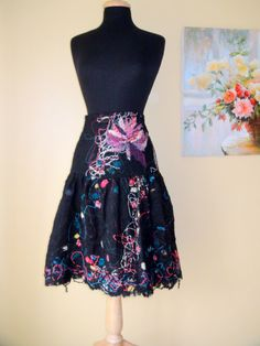 Beautiful and eyecatching Wool skirt  lined by HandyMaria on Etsy, $140.00