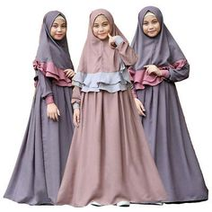 Arab abaya muslim tops prayer dress two-piece islamic vintage kaftan Middle Eastern Clothing, Modele Hijab, Dress Anak, Muslim Dress, Muslim Hijab, Islamic Clothing, Muslim Girls, Muslim Fashion, Traditional Outfits
