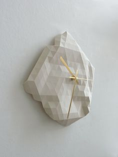 Faceted Wall Clock. £45.00, via Etsy.