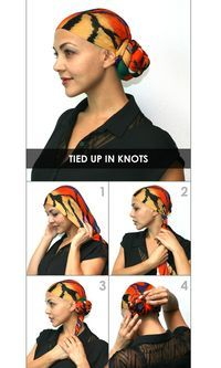How to Tie a Headscarf - Tied up in Knots