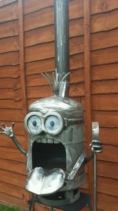 minion fire pit!! Everyone needs a welder in the family!