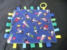 Handmade-Personalised-Taggie-Dummy-Holder-Toy-Link-Little-Pirates Tag Blanket, Picnic Blanket, Outdoor Blanket, Love Tag, Handmade Baby, Blankets, Toys, Pirates, Ebay
