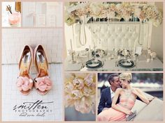 Mood Board Monday from DA Weddings: Blush Pink Themes Wedding