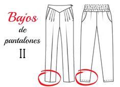 Colours for Baby, Patrones y Tutoriales de Costura : Curso de costura gratis: Bajos de pantalones 2