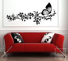 Adesivi murali farfalla Decalcomanie da muro di di styleywalls