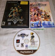 Kingdom Hearts II Playstation 2 Game Role Playing RPG Real Time Strategy PS2