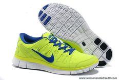 Cheap Mens Nike Free Run 4 580530-740 Yellow Blue