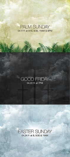 Palm Sunday, Good Friday, Easter (Series Art) by carrie lee grant, via Flickr