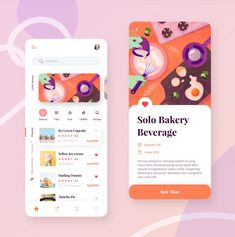 Bakery and Beverages Mobile App Exploration by yannywd for Paperpillar Ui Design Mobile, Mobile Application Design, App Ui Design, Interface Design, User Interface, Design Design, Web Design Examples, Website Design Services, Website Designs