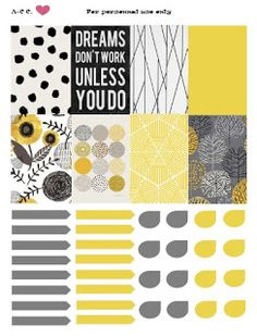 On The Coast: GREY & YELLOW PLANNER PRINTABLE FOR HAPPY PLANNER (FREE)
