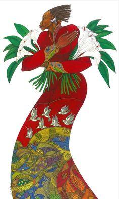 Charles Bibbs. Este artista californiano de espíritu filantrópico nos deleita con unas obras cargadas de color y profundas raíces étnicas, que pretenden remover nuestras emociones más íntimas.