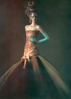 Gemma Ward wears Christian Dior in 'Just Enchanting' by Paolo Roversi for Vogue Italia, March 2004.