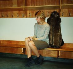 fur coat and ankle boots #teacher