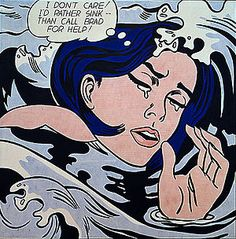 """Roy Lichtenstein """"Drowning Girl"""" 1963 Pop Art"""