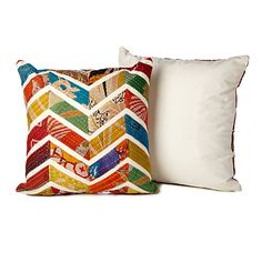 Look what I found at UncommonGoods: chevron sari pillows... for $34.99 #uncommongoods