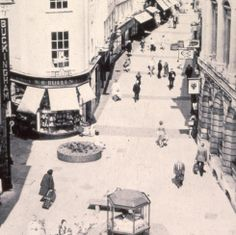 An early example of pedestrianisation in London Street, Norwich. An historical collection of lost photographs showing a developing Britain from the 1960s were found in a basement at the University of Sheffield department of town and regional planning. They belonged to esteemed government planner JR 'Jimmy' James. See the 1967 video of the launch of the pedestrianised street here: http://www.eafa.org.uk/catalogue/9406