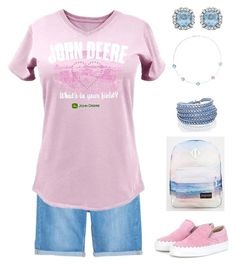 """""""Untitled #166"""" by gdhlady on Polyvore featuring Violeta by Mango, John Deere, Sif Jakobs Jewellery, Chloé and JanSport"""
