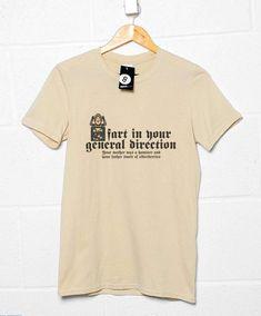 Inspired By Monty Python Men's T Shirt - Rude Frenchman - Sand / Medium