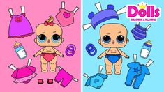 NUEVA MUÑECAS BEBE DE PAPEL ROPA Y ACCESORIOS CASA DE MUÑECAS HANDMADE P... Games For Kids, Paper Dolls, New Baby Products, Doll Clothes, Paper Crafts, Lol, How To Make, Home, Baby Dolls