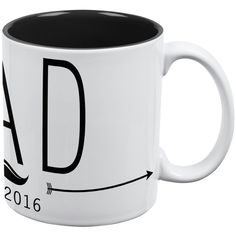DAD Est 2016 White-Black All Over Coffee Mug -- Unbelievable product right here! : Coffee Mugs