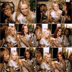 Abba after their concert in Birmingham 10th Feb 1977