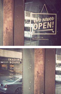 We Never Open! Street Art by Ankles | Inspiration Grid | Design Inspiration