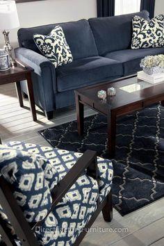 30 ideas para decorar salas de estar con el color azul marino