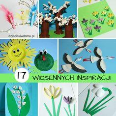 Upragniona i wytęskniona wiosna zbliża się do nas wielkimi krokami. Postaram się, aby nie zabrakło Wam w tym roku wiosennych inspiracji. A zacznę od zestawienia 17 pomysłów na wiosenne prace plastyczne, techniczne i zabawy dla dzieci, które już wcześniej ukazały się na blogu – teraz macie wszystko zebrane w jednym miejscu. Są kwiatki, są drzewa, …