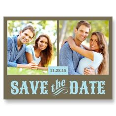 Rustic country-style Save the Date post card