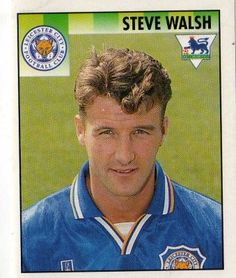 Steven Walsh - Leicester City Football Stickers, Football Cards, Football Players, Leicester City Football, Leicester City Fc, Steve Walsh, English Premier League, Defenders, Everton